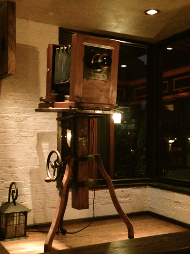 Antique Camera at Ricalton s Restaurant Smile Files: Ricaltons Village Tavern